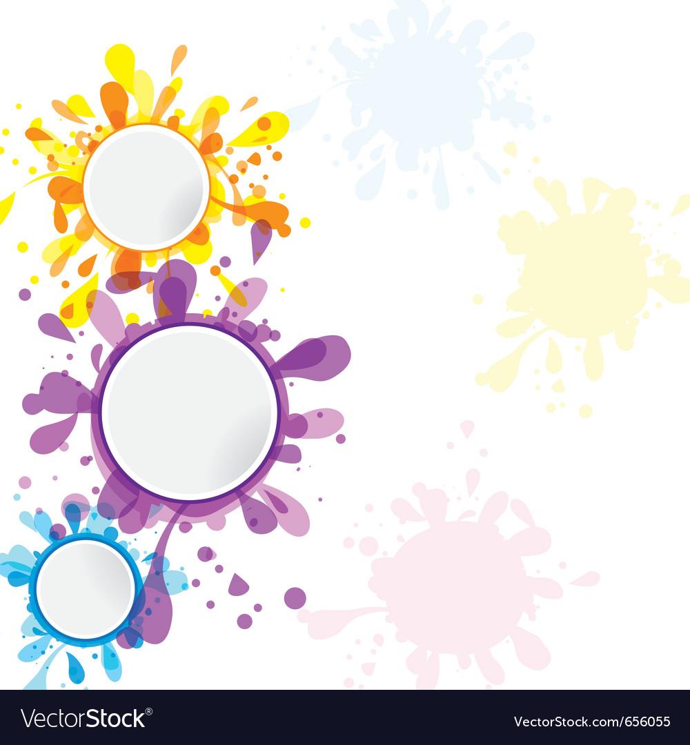 Design banner template - Set Of Banner Template Ink Cute Element For Design Vector Image