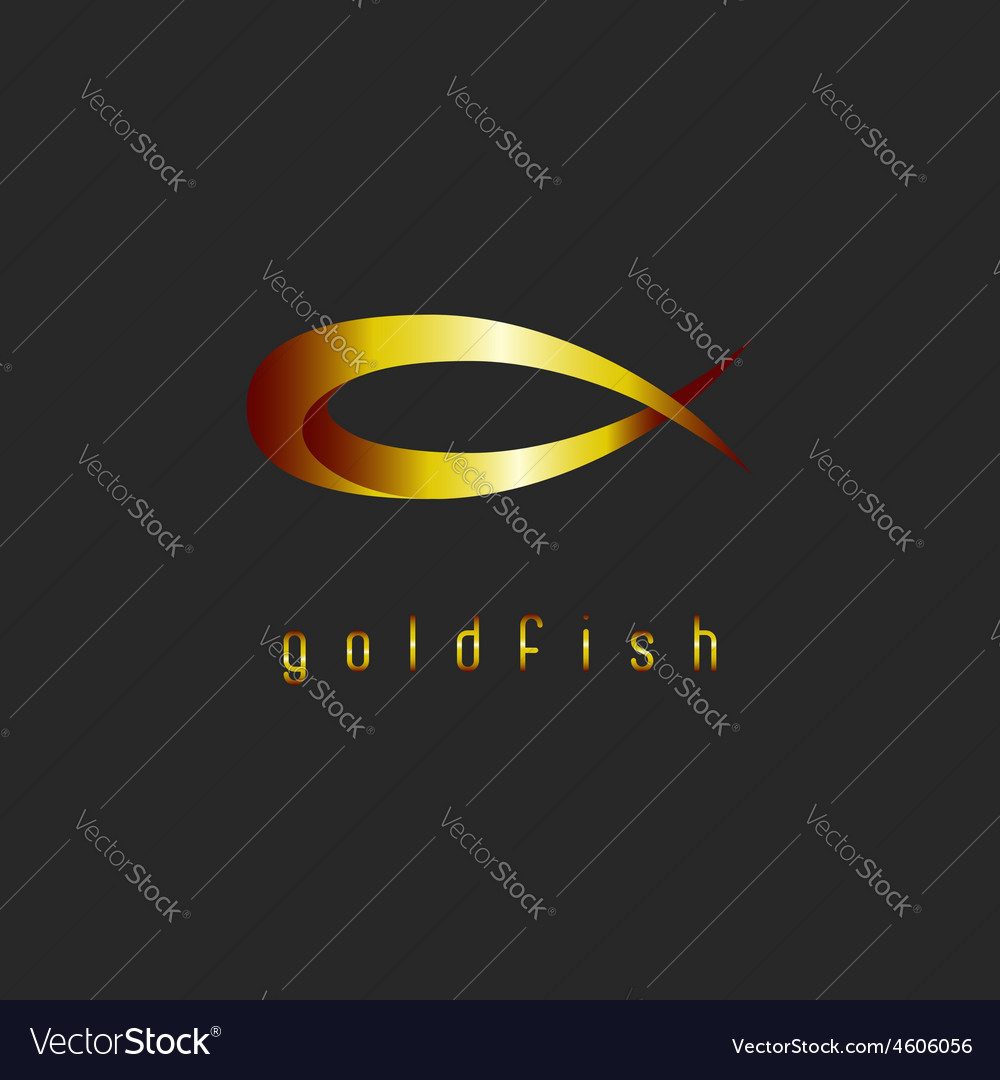 Goldfish abstract logo concept shape of animal vector image