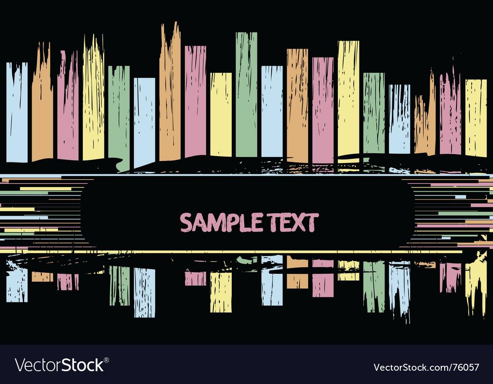 Colour lines vector image