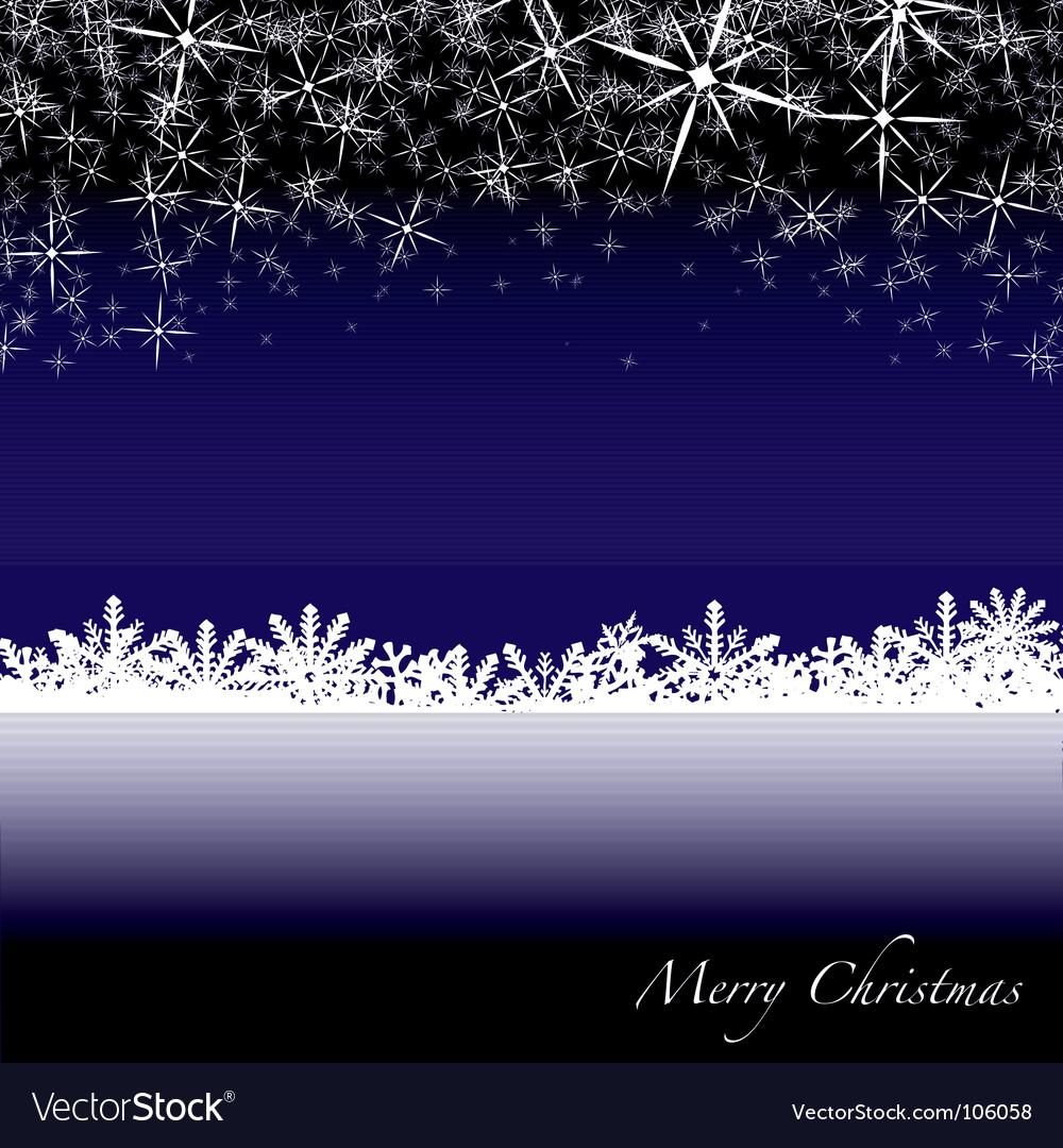 Christmas snow drift vector image