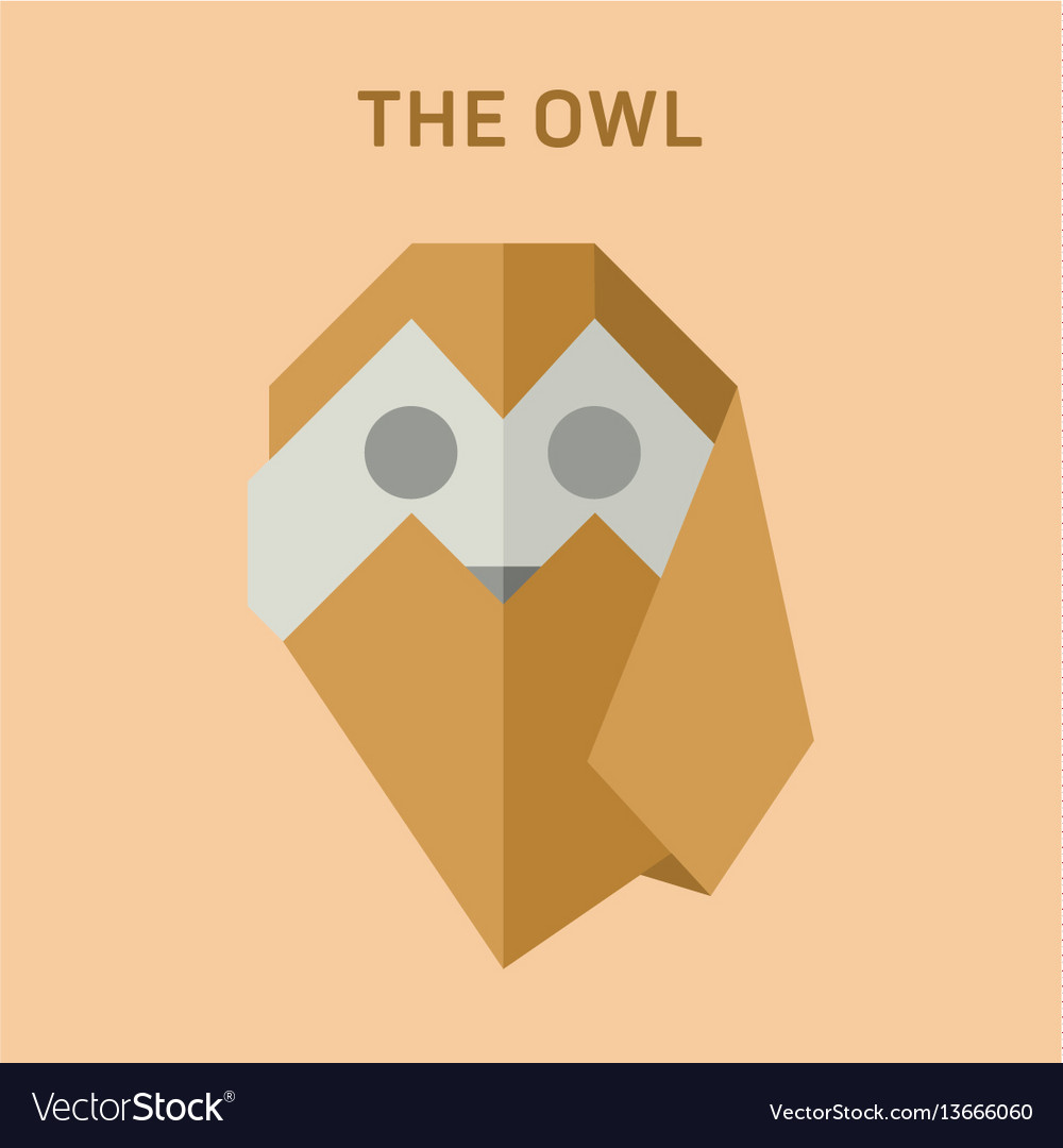 Polygon animals origami owl royalty free vector image polygon animals origami owl vector image jeuxipadfo Image collections
