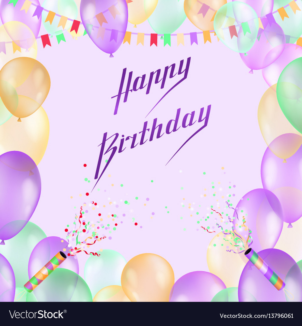 Happy birthday design for greeting cards vector image kristyandbryce Images