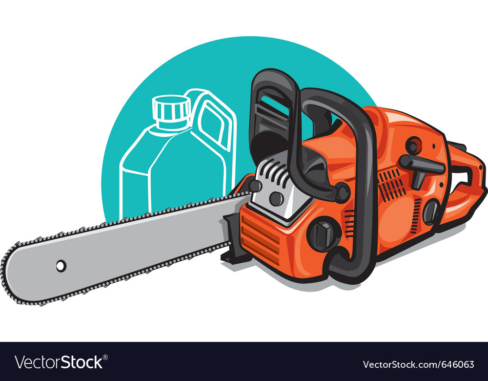 Chainsaw vector image