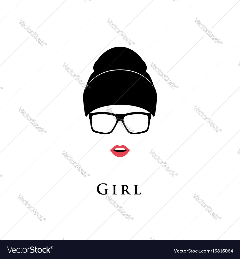 Young beautiful girl vector image