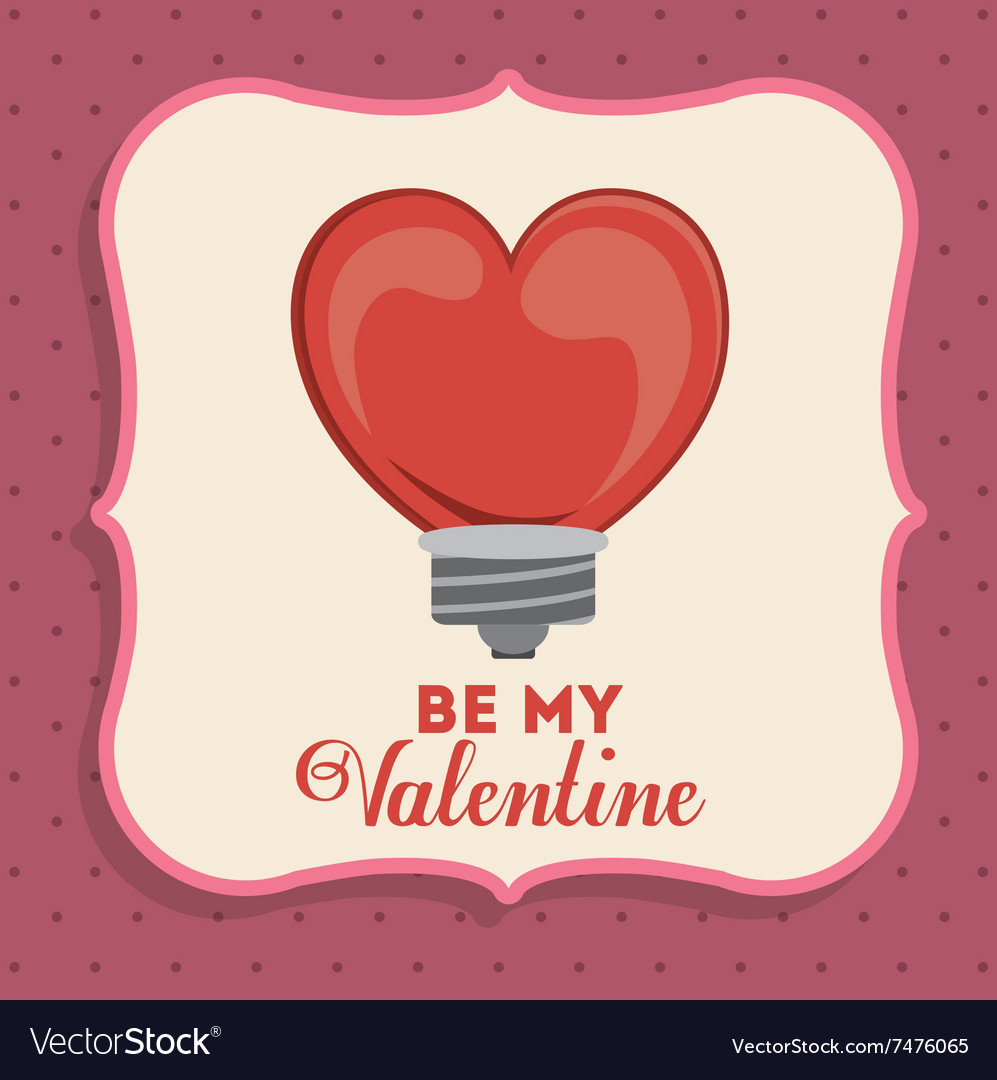 Valentines card design Royalty Free Vector Image