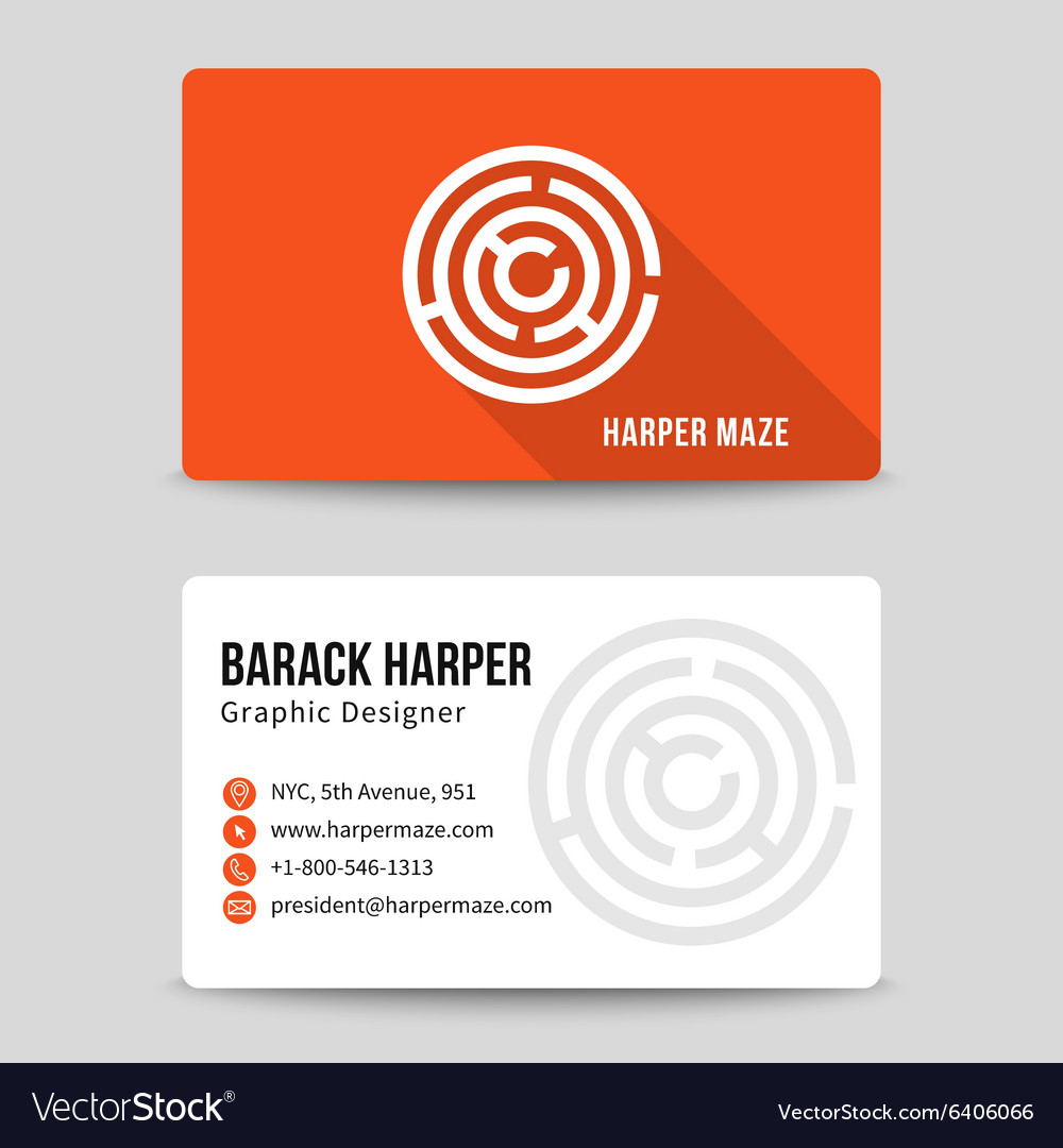 Modern business card template with maze royalty free vector modern business card template with maze vector image alramifo Image collections