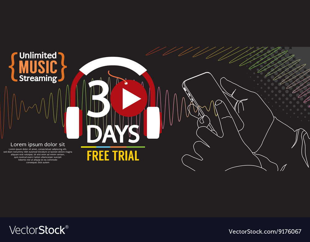 30 Days Free Trial 1500x600 Banner vector image