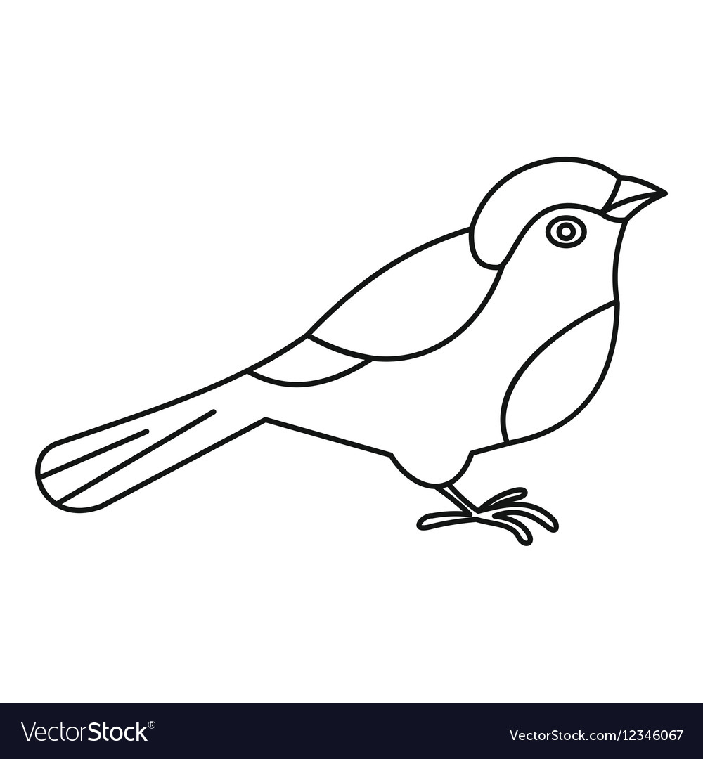 Bird icon outline style vector image