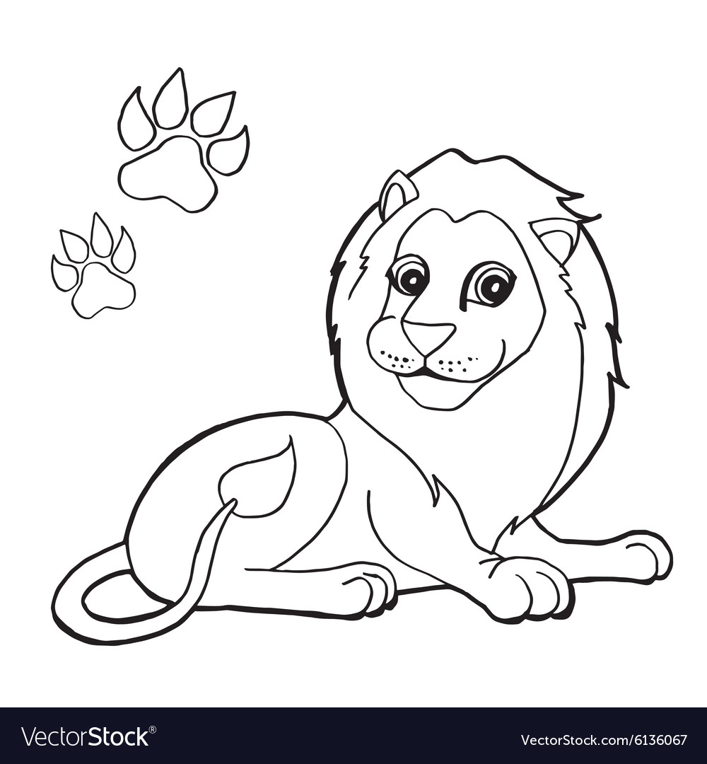 91 Pig With Paw Print Coloring Pages Vector Image Paw