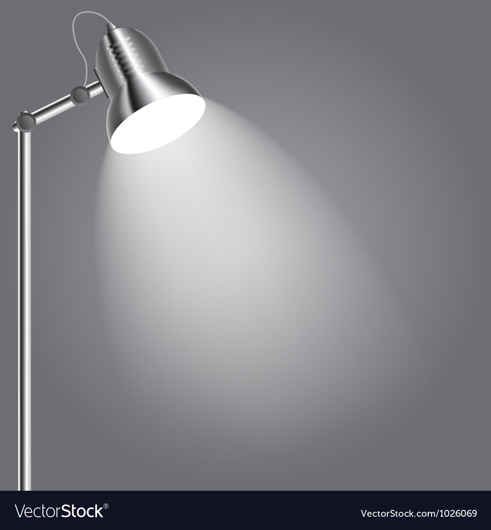 Background with lighting lamp Empty space for your vector image