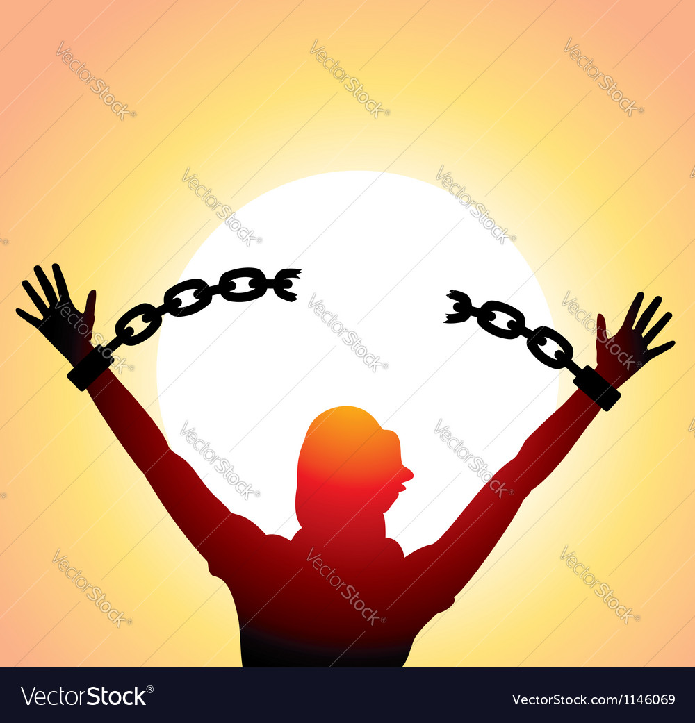 Girl with raised hands vector image