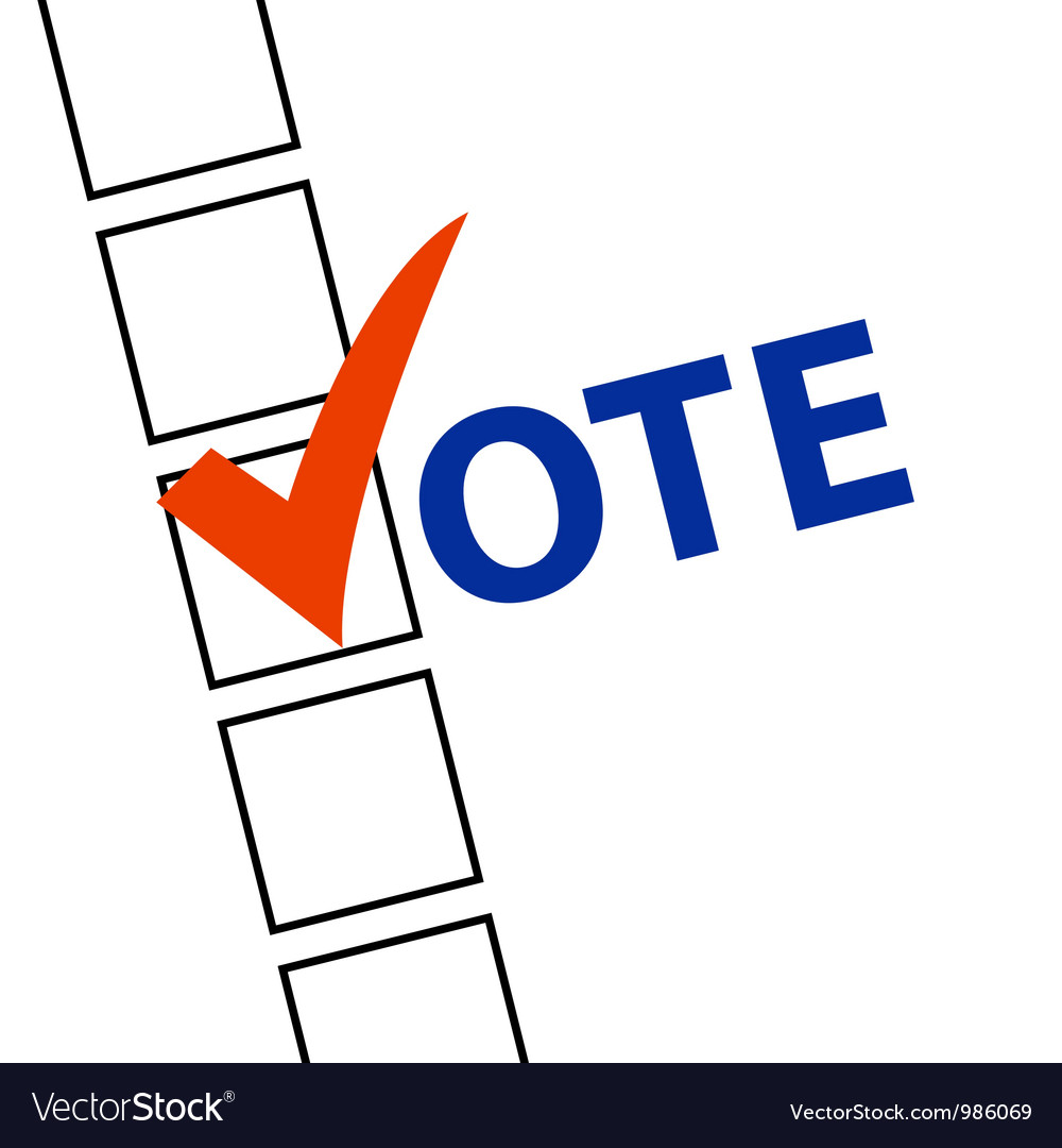 Vote vector image