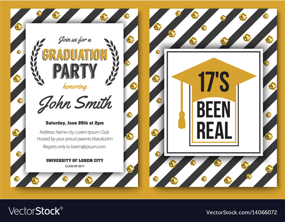 Graduation Party Template Invitation Royalty Free Vector