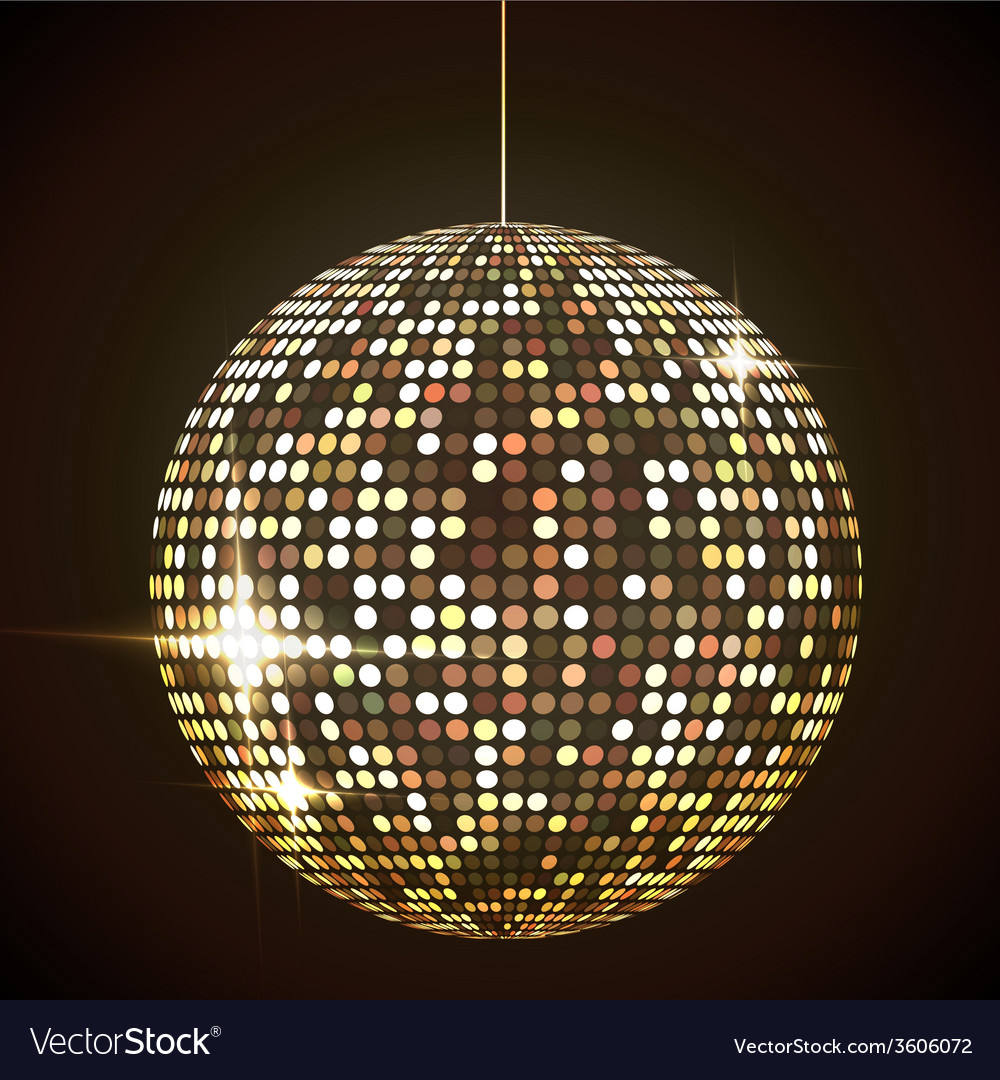 Mirror disco ball eps10 transparent objects and vector image arubaitofo Gallery