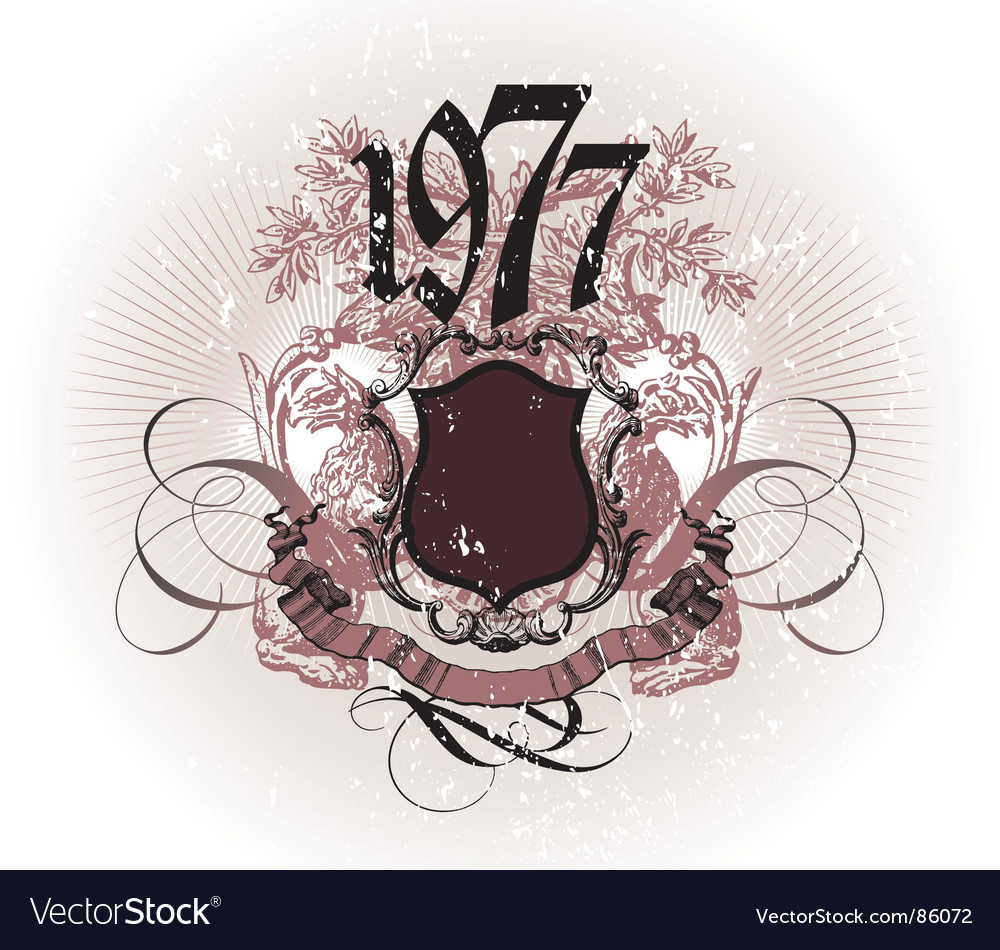 Vintage composition vector image