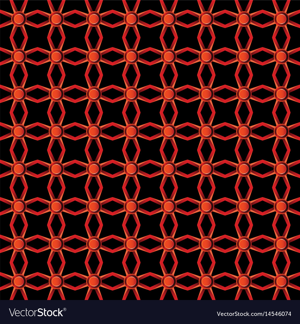 Red colors metal pattern vector image