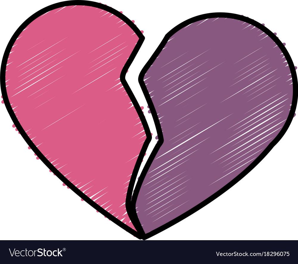 Broken heart symbol royalty free vector image vectorstock broken heart symbol vector image buycottarizona