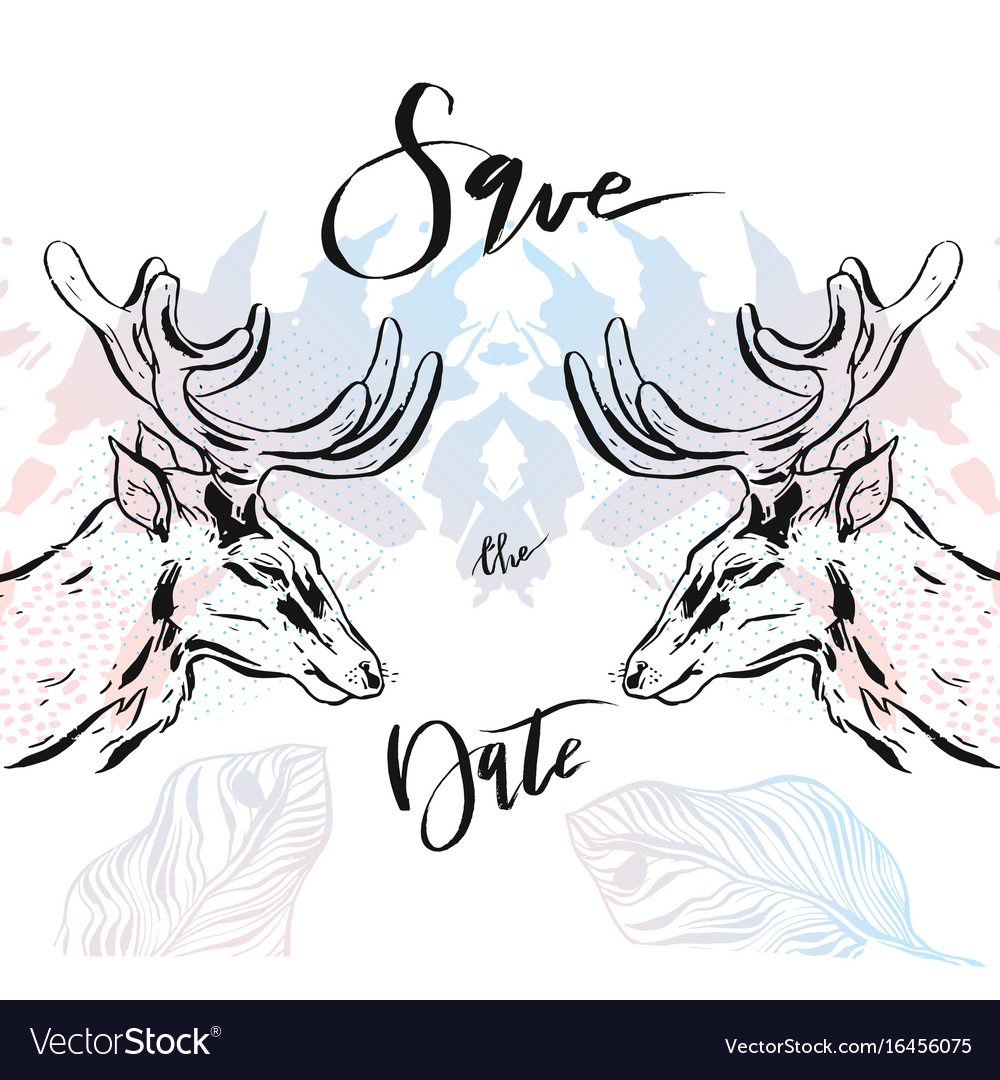 Hand drawn abstract modern hipster vector image