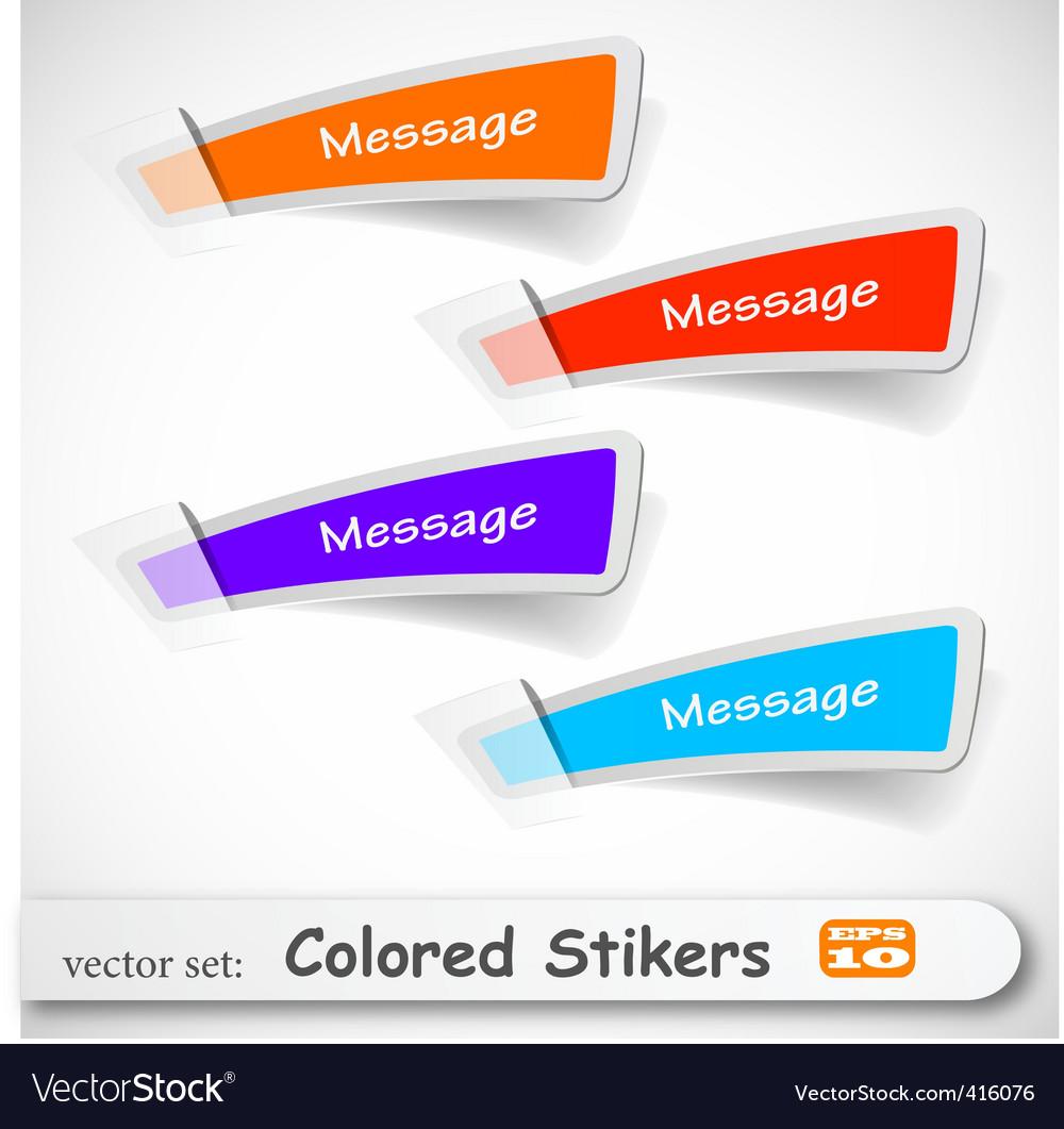 Sticker set vector image