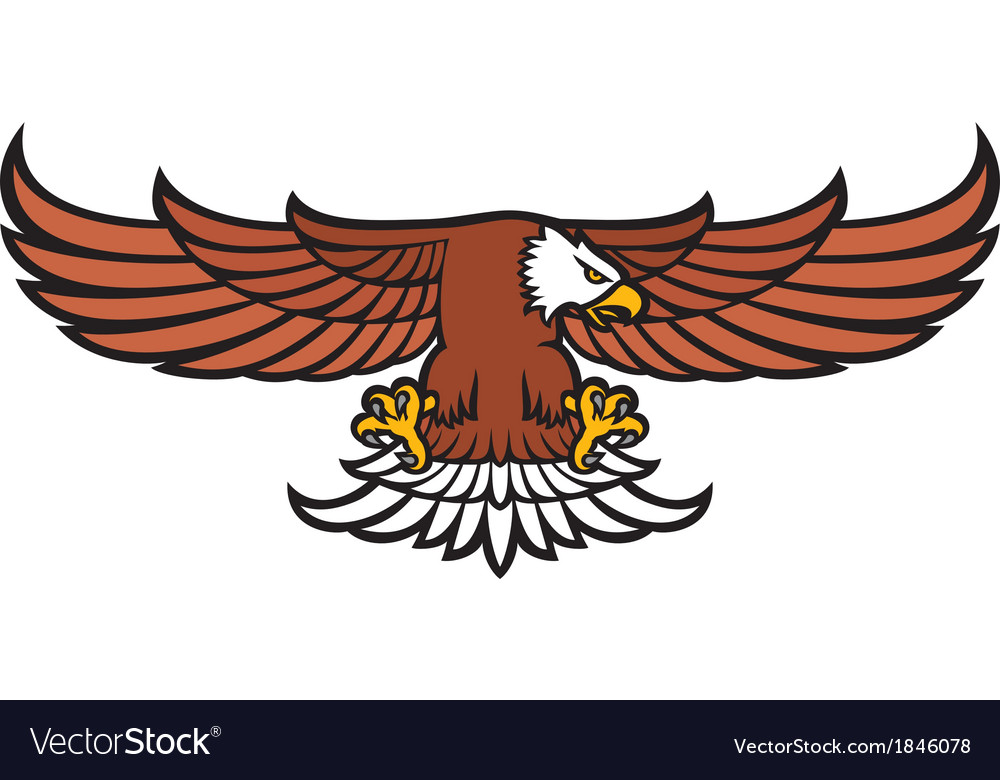 Flying eagle royalty free vector image vectorstock flying eagle vector image altavistaventures Images