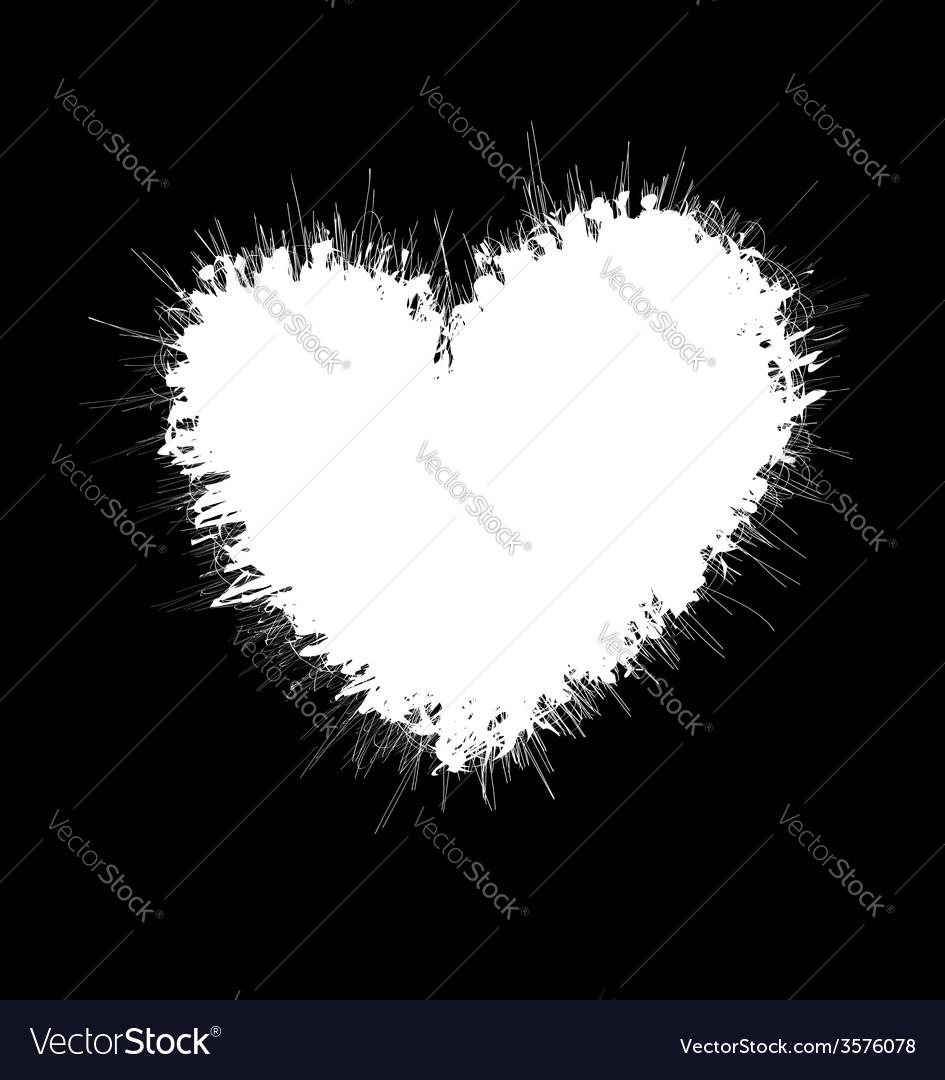 Heart shaped scribble frame vector image