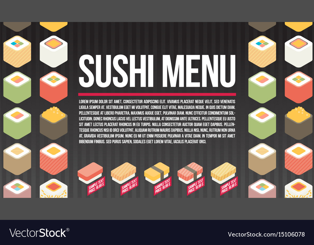 Sushi menu template flat royalty free vector image sushi menu template flat vector image pronofoot35fo Gallery