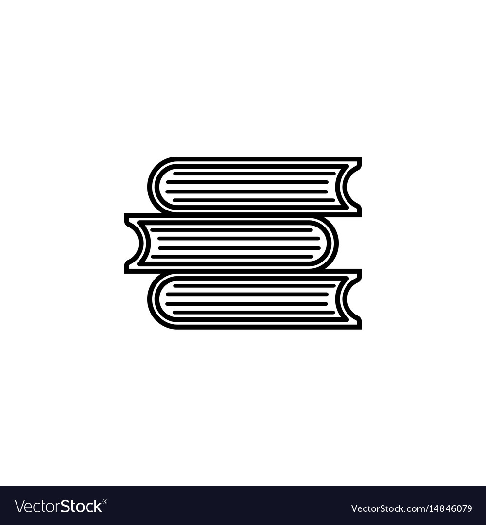 Books line icon education and school element vector image