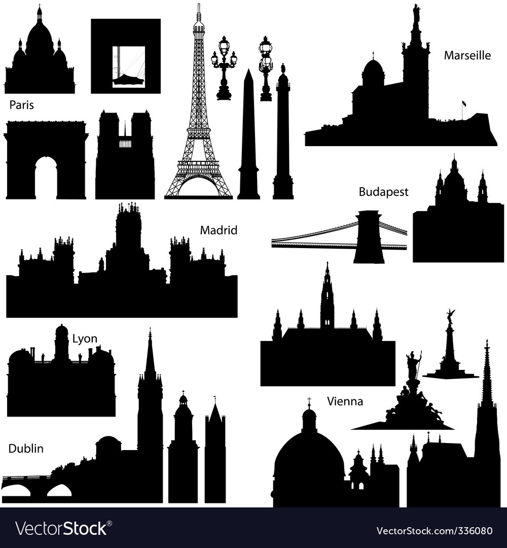 European monuments vector image