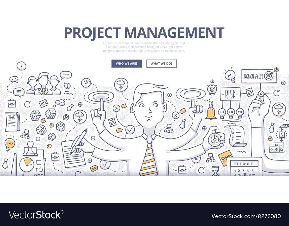 Project Management Doodle Concept vector image