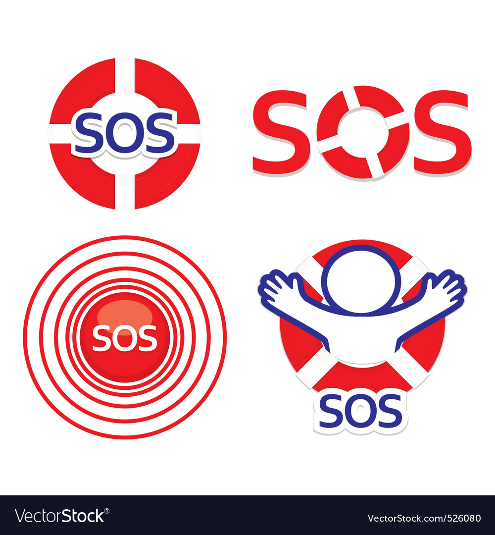 Set sos vector image