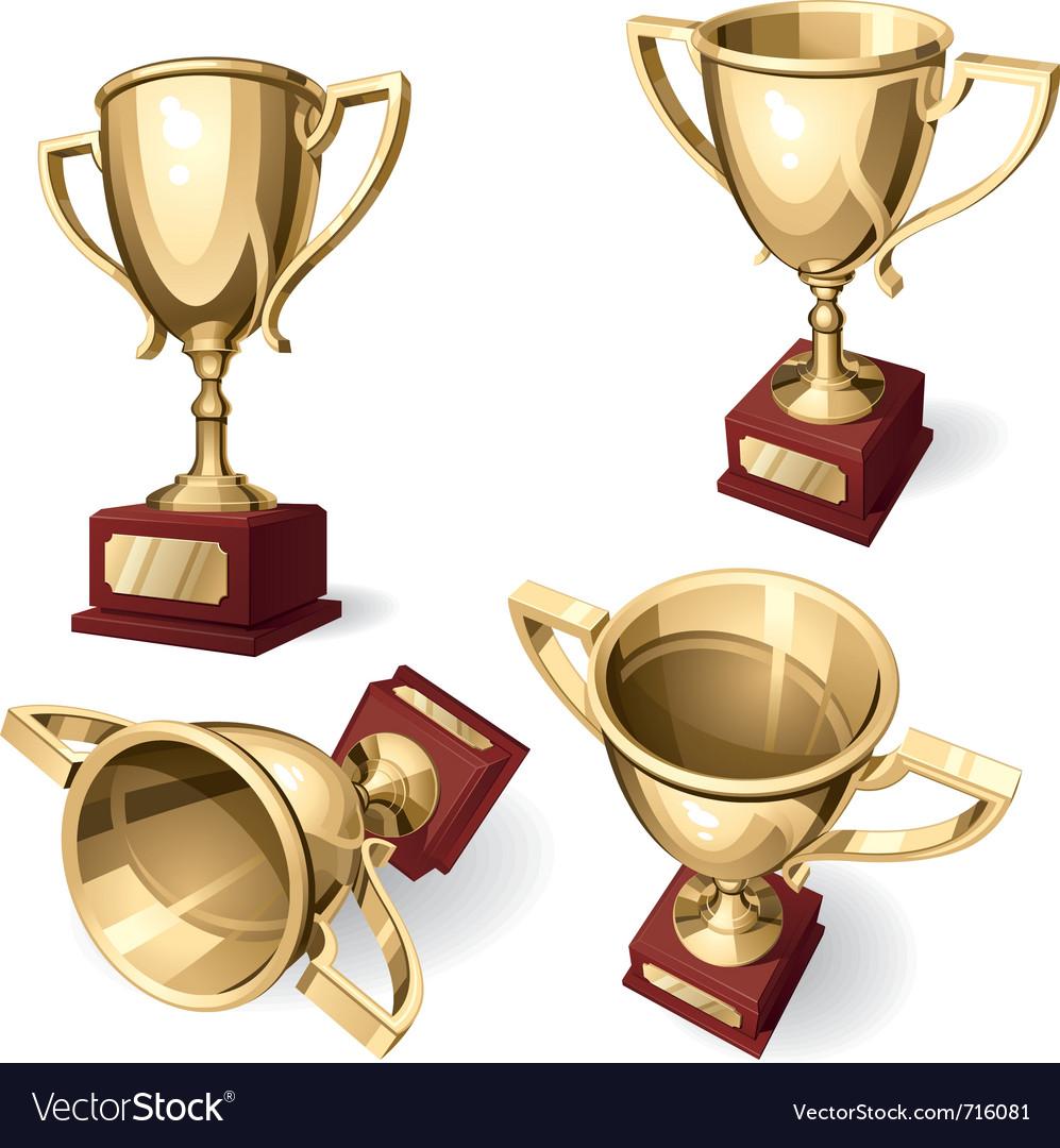 Sport cup vector image