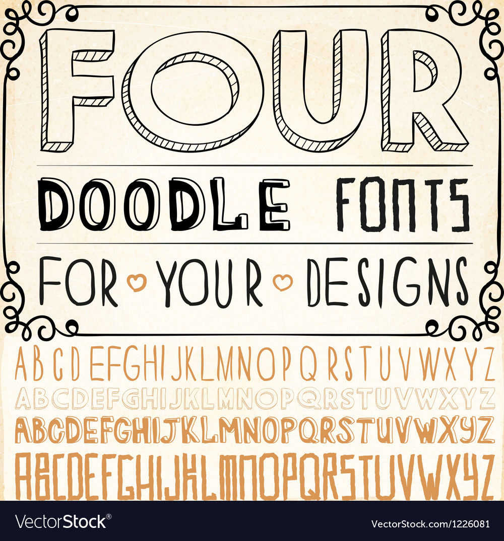 Handwriting Fonts vector image