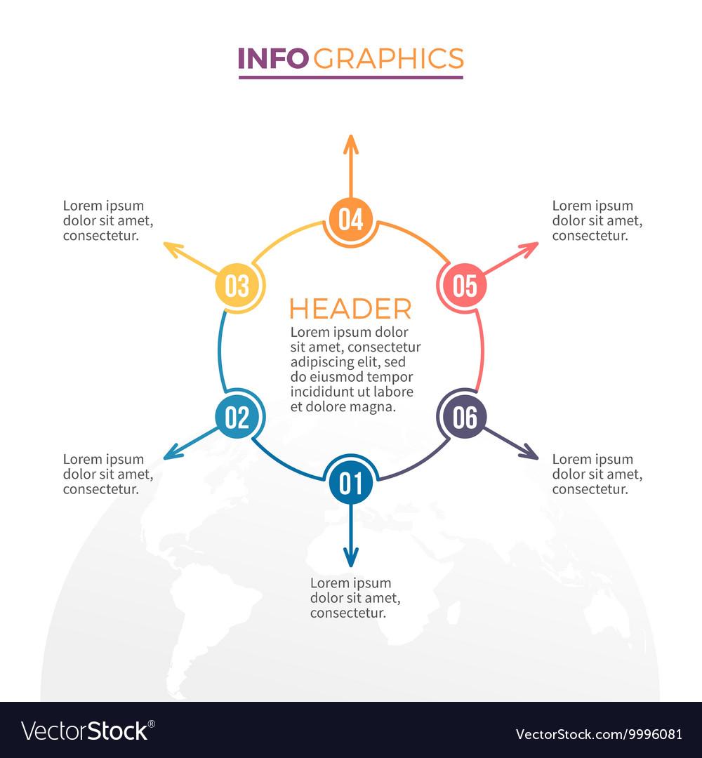 Linear infographics Minimalistic chart diagram vector image