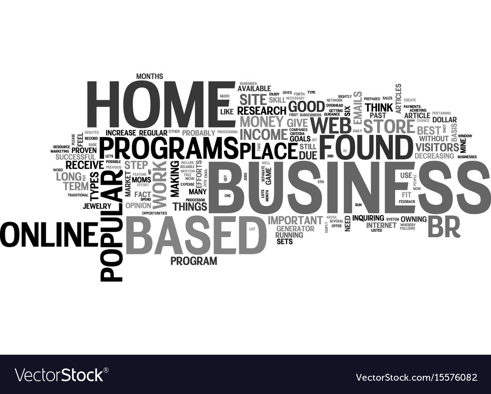 Best home based business opportunities text word Vector Image