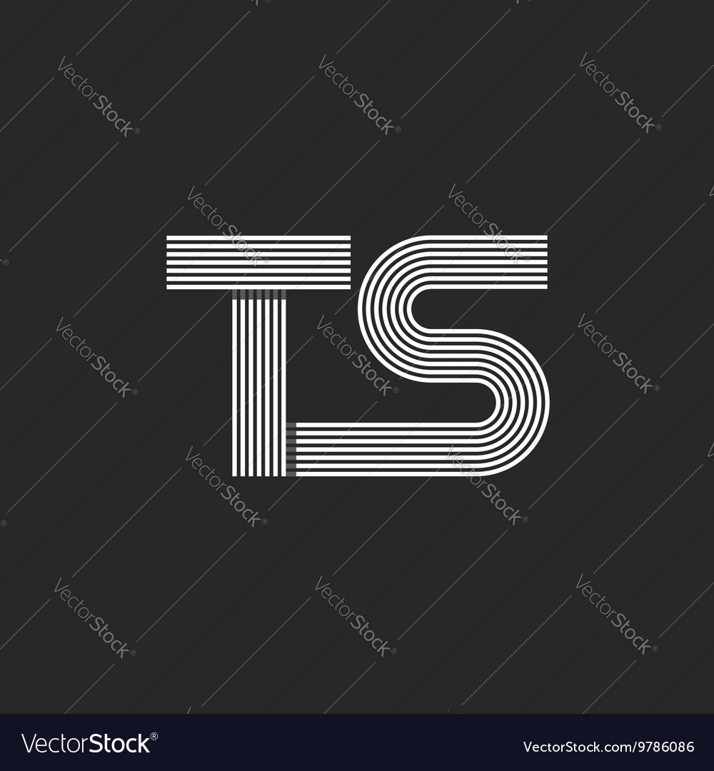 Letter To Make A Monogram Vector