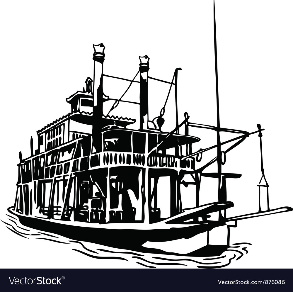 River steamboat vector image