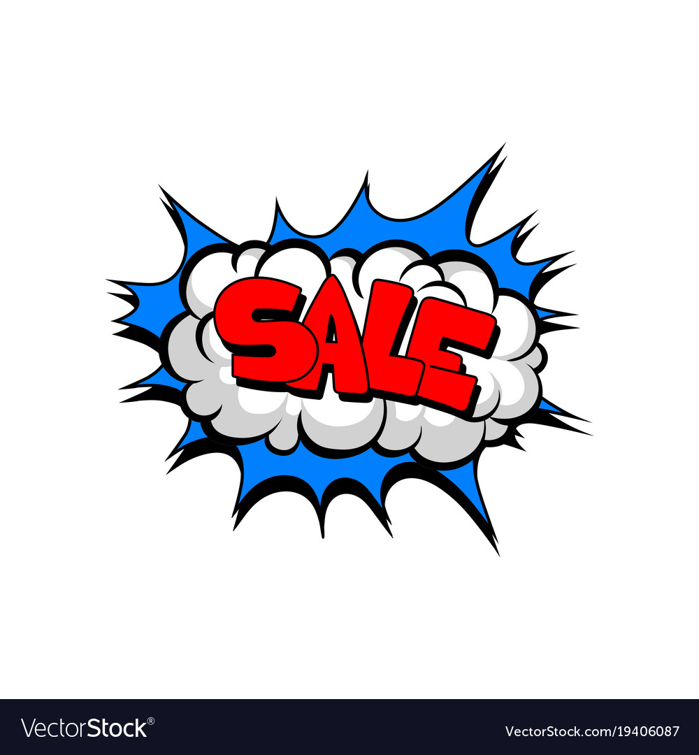 Speech bubble with text sale cartoon explosion vector image speech bubble with text sale cartoon explosion vector image buycottarizona