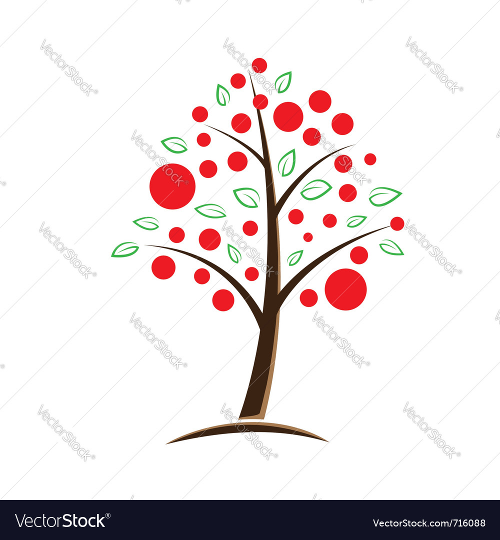 Apple tree symbolic vector image