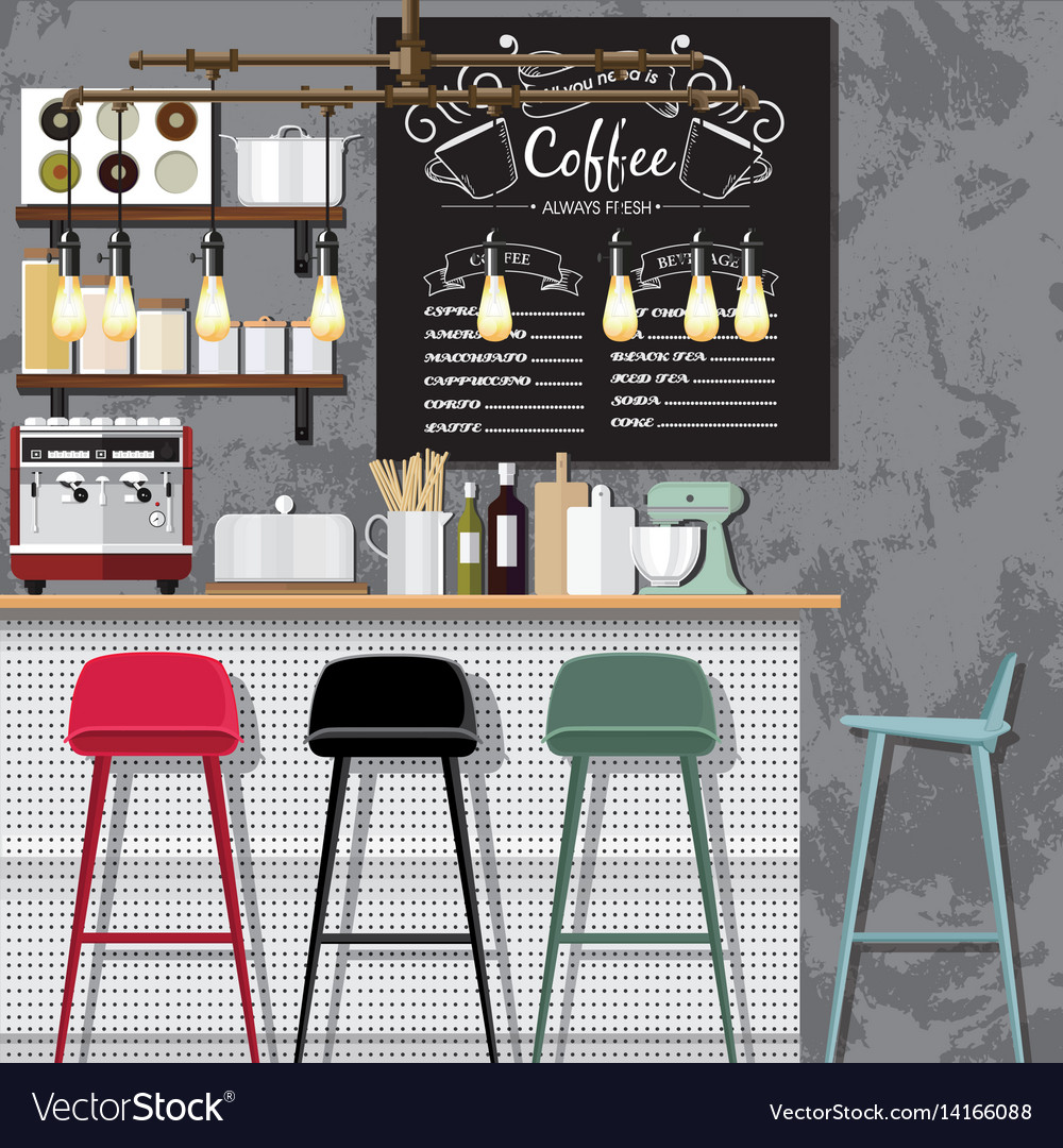 Creative coffee shop vector image
