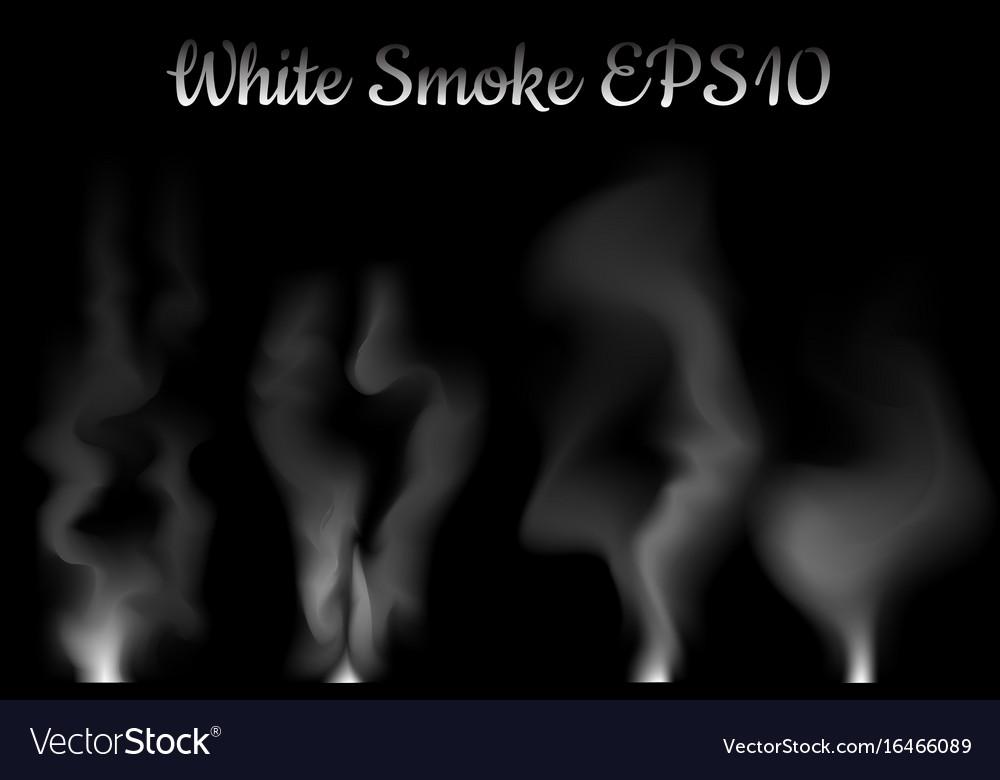 White smoke on black vector image