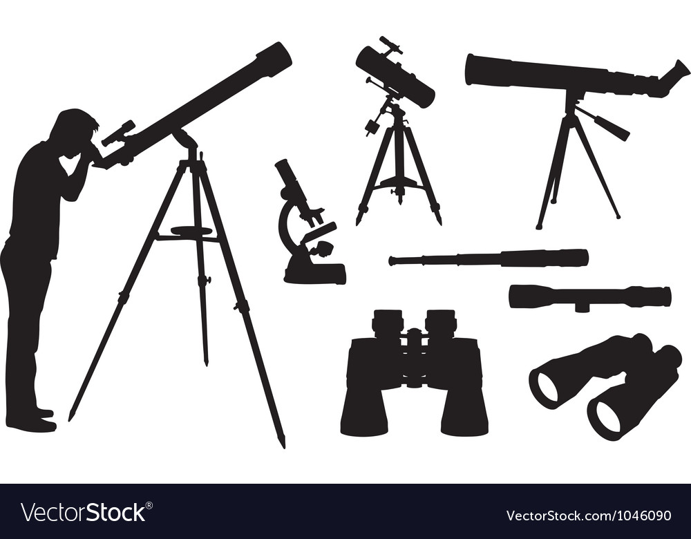 Optical equipment vector image