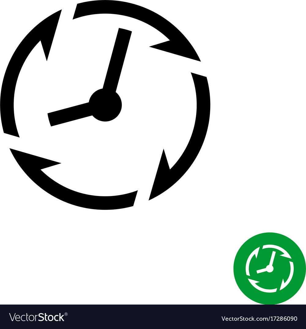 Long lifetime period icon timer with arrows vector image
