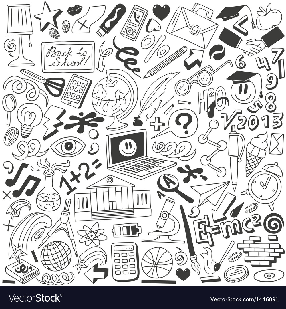 Education - doodles collection vector image