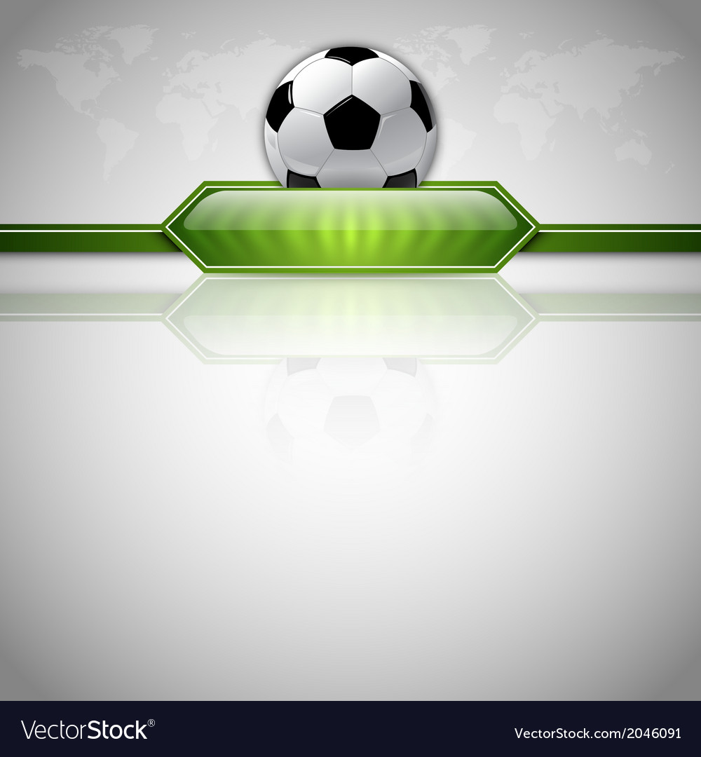 Football score green world gray vector image