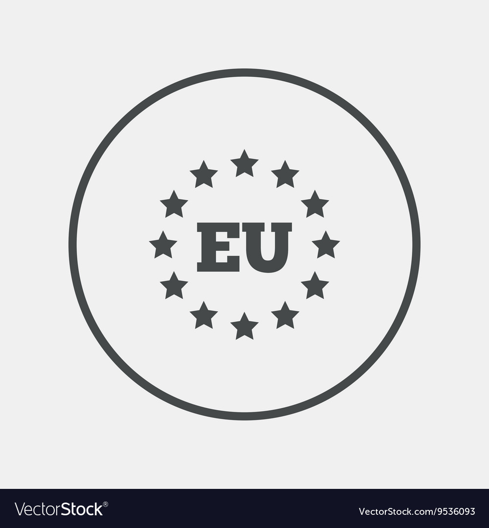European union icon EU stars symbol vector image