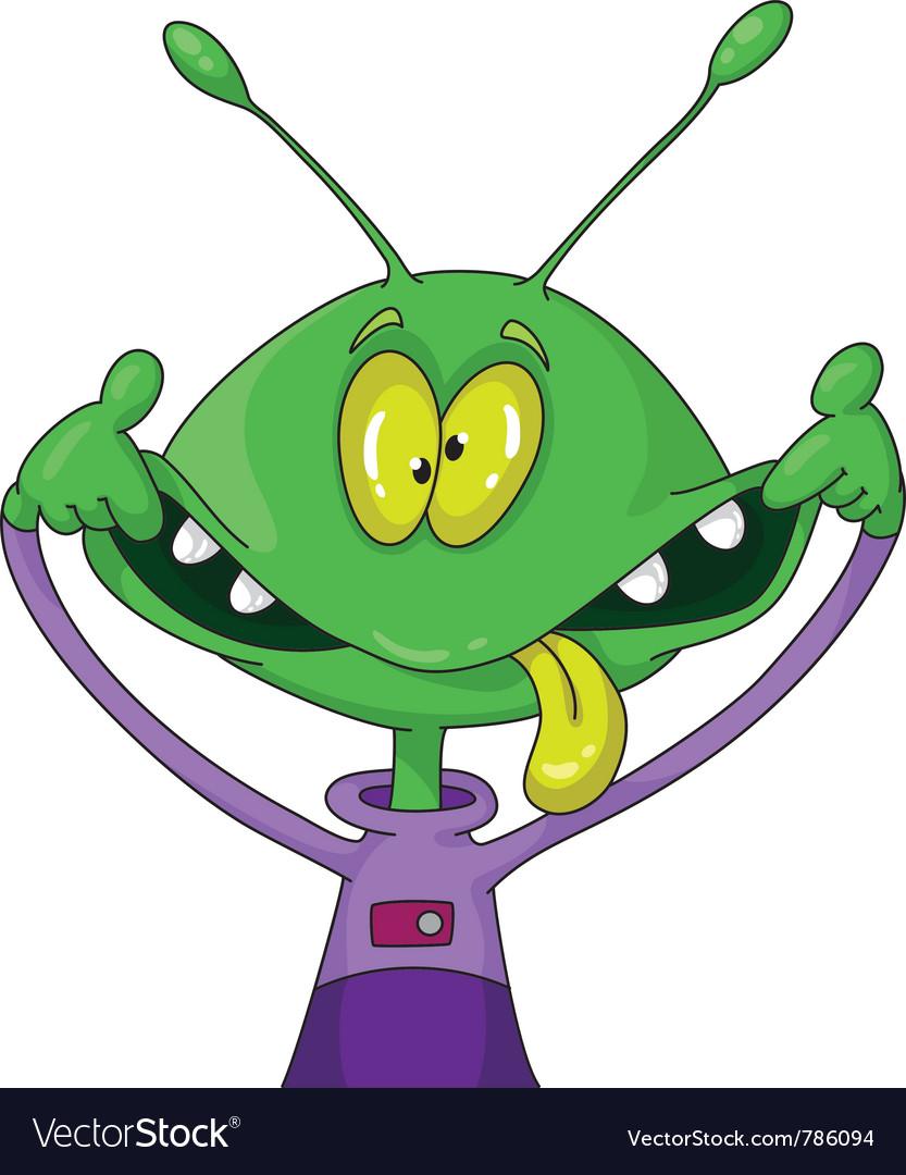 Crazy alien vector image