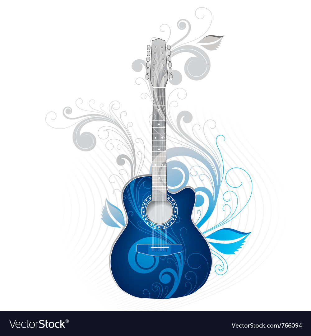Cool guitar vector image