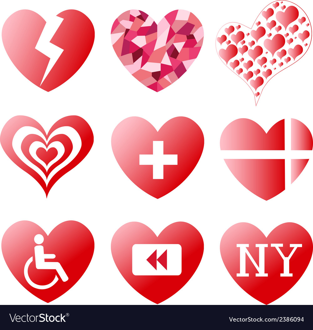 Heart symbols royalty free vector image vectorstock heart symbols vector image buycottarizona Image collections