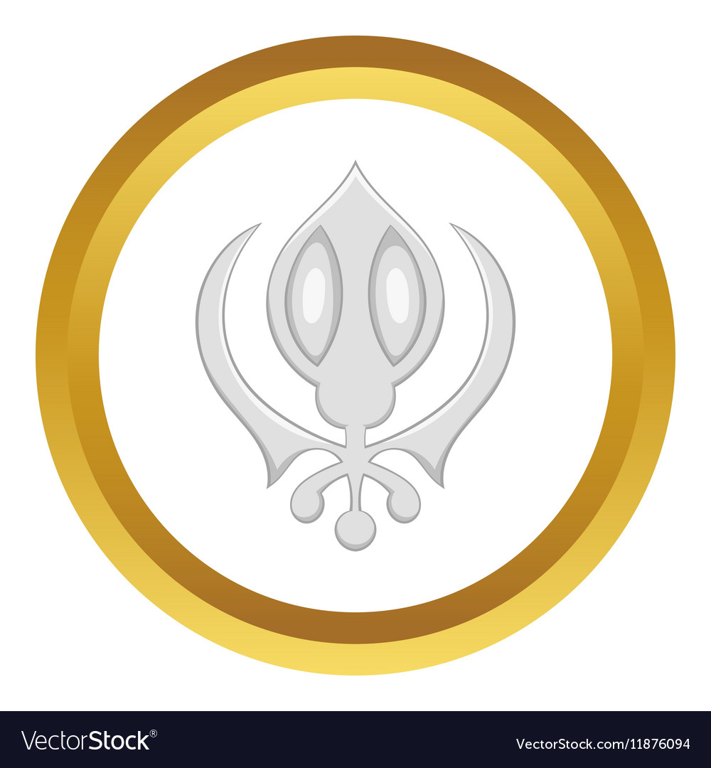 Sikhism symbol icon royalty free vector image vectorstock sikhism symbol icon vector image biocorpaavc