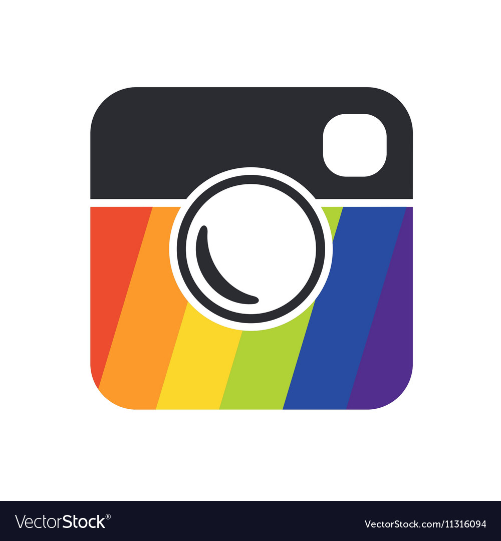 Simple Hipster Photo Icon vector image